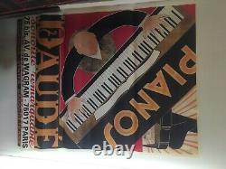 10 Affiches Pianos Daudé 1m56 sur 1m17