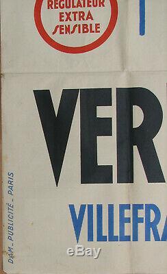 18. Vermorel. Villefranche Sur Saone. Vins / Vignes. 1 X Affiche. 79,6 X 120