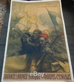 1917 Charles FOUQUERAY Journée de l'Armée d'Afrique EO Entoilée Superbe