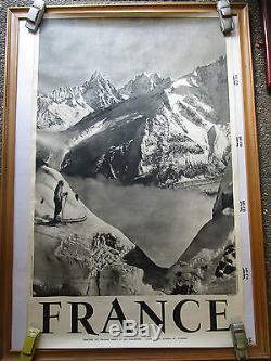 2 affiches CHAMONIX photo Tairraz et SERRE-CHEVALIER photo Francou
