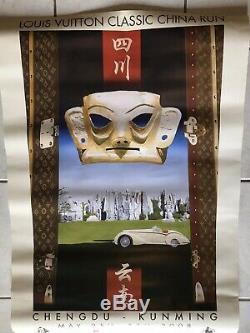 3 Affiches Louis Vuitton Classic, Razzia, Venise Bugatti, Ferrari, course, originale