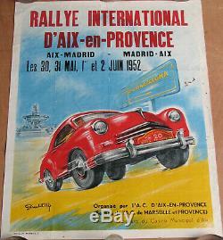 435. 1 X Affiche Aix En Provence. Rallye International. 1952. 54 X 70 CM
