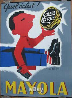 99. Cirage Mayola. 1 X Affiche. Format 60 X 80 Cm. Envoi Sous Tube