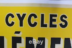 AFFICHE ANCIENNE 1900 CYCLES CLEMENT Bayard Pré St Gervais 93 vélo ancien