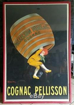 AFFICHE ANCIENNE CAPIELLO COGNAC PELLISSON encadree120×80 pub bistrot