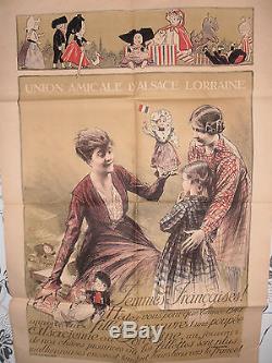 Affiche Ancienne Emprunt Alsace Lorraine Henri Royer Jouets Poupée (ref 34)