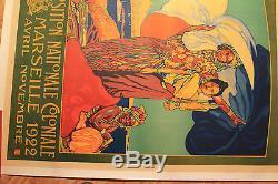 Affiche Ancienne Exposition Coloniale Marseille 1922