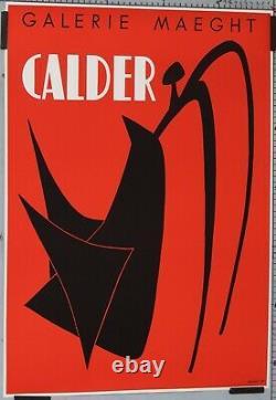 AFFICHE ANCIENNE GALERIE MAEGHT EXPOSITION CALDER imp MOURLOT