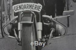 AFFICHE ANCIENNE GENDARMERIE MOTO BMW R50 R75 TOUR DE FRANCE vélo années 60