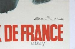 AFFICHE ANCIENNE GRAND PRIX FRANCE CIRCUIT MONTLHERY 5 SEPT 1965 signée BELIGOND