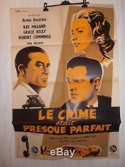 AFFICHE ANCIENNE LE CRIME ETAIT PRESQUE PARFAIT GRACE KELLY HITCHCOCK  ref 56