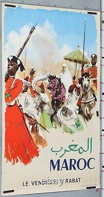 AFFICHE ANCIENNE MAROC LE VENDREDI A RABAT ci 1960' EDITIONS AFRICAINE PERCEVAL