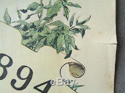 AFFICHE ANCIENNE MILITARIA 1894 Annuaire illustré Armée Française PIERRE COMBA