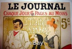 Affiche Ancienne Originale Art Nouveau Steilen La Traite Des Blanches Le Journal