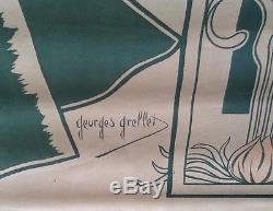 Affiche Ancienne Originale A La Place De Clichy Par Georges Grellet Publicitaire