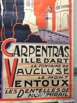 AFFICHE ANCIENNE ORIGINALE CARPENTRAS Ville d'ART de P de CHAMPEVILLES Années 30