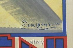 AFFICHE ANCIENNE ORIGINALE CITROEN C4F C4 C6 Pierre LOUYS 1930 LITHO ULTRA RARE