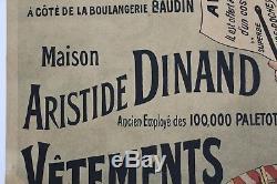 AFFICHE ANCIENNE ORIGINALE COGNAC Belle Jardinière tambour garde champêtre 1900