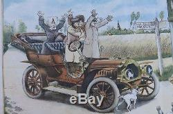 AFFICHE ANCIENNE ORIGINALE DE DION BOUTON Albert BEERTS genuine period poster