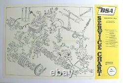 AFFICHE ANCIENNE ORIGINALE MOTO BSA moteur starfire 1969 STAR BANTAM ROCKET