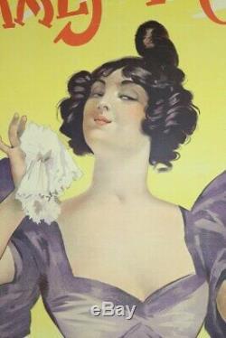 AFFICHE ANCIENNE ORIGINALE PARFUM Femmes de France VIVILLE nov 1897 PAL Opéra