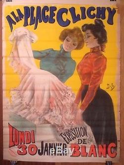 Affiche Ancienne Originale Publicitaire A La Place De Clichy By Pal Art Déco