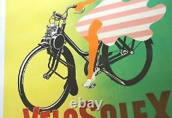 AFFICHE ANCIENNE ORIGINALE SOLEX VELOSOLEX 120x160cm signée René RAVO 1953 1964