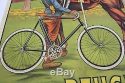 AFFICHE ANCIENNE ORIGINALE vélo cycles PEUGEOT Maubourguet GARDE NATIONALE 1900