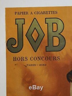 AFFICHE ANCIENNE PAPIER CIGARETTE JOB G. MAURICE 1897 ART NOUVEAU Mucha Bouisset