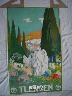 Affiche Ancienne Plm Tlemcen Lithographie D Epoque 1929 No Copy Leon Carre