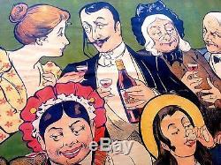 Affiche Ancienne Quinquina Dubonnet Par Oge 1897 Antique French Poster 1897