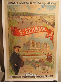 Affiche Ancienne St Germain En Laye Panorama Musee Personnages