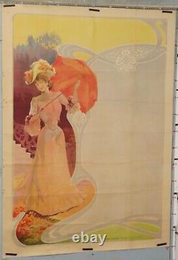 AFFICHE ANCIENNE TAMAGNO GALLICE FEMME A L'OMBRELLE AVANT LA LETTRE Ci 1890