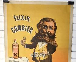 AFFICHE ANCIENNE VINTAGE POSTER ELIXIR COMBIER Ca 1890 NAP III DÉCO BISTROT BAR