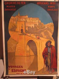 Affiche Ancienne Voyages Espagne Pont De Tolede
