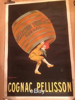 AFFICHE COGNAC PELISSON lithographie Originale de CAPPIELLO 1917 MEDIUM SIZE