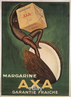 AFFICHE DE CAPPIELLO RARE AXA 1931 120X 160 CM