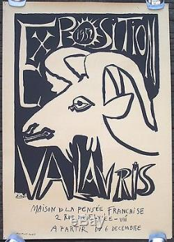 Affiche Exposition Vallauris Maison De La Pensée Française Picasso 1952