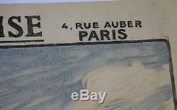 AFFICHE Emprunt Port Marseille Bonne Mère LITHO Société Marseillaise Crédit WW1