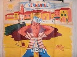 AFFICHE FERNANDEL LA BONNE ETOILE 120x160 cm Réalisé en 1937 ref 56