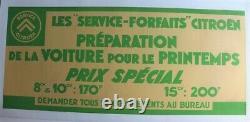 AFFICHE FORFAIT SERVICE CITROEN ROSALIE 8 10 15 cv 1932-38 C4 C6 TRACTION DS 2CV