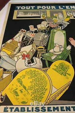 AFFICHE JOUET TOUT POUR L'ENFANT ROUSSEL 1926 TOULOUSE 39 rue LANGUEDOC 31 cpa