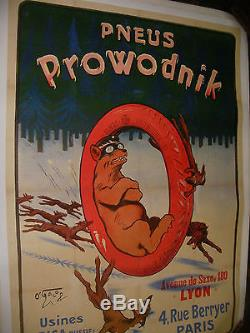 Affiche Originale 0' Galop Pneus Prowodnik