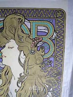 AFFICHE ORIGINALE 1896 JOB BLONDE Alfonse MUCHA ref R/W 15