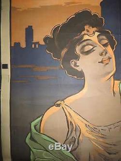 AFFICHE ORIGINALE 1900 SOURCES ROMAINES DE SAINT GALMIER par MISTI