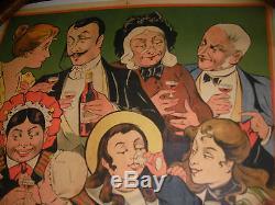 Affiche Originale Ancienne Quinquina Dubonnet
