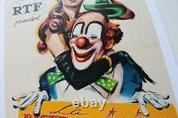 AFFICHE ORIGINALE CIRQUE PINDER RTF PISTE AUX ETOILES LANZAC Cirque d'Hiver 1960
