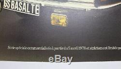 AFFICHE ORIGINALE CITROEN GS BASALTE très peu d'exemplaires 1978 gsa MEP