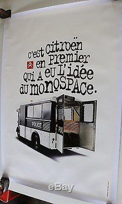 AFFICHE ORIGINALE CITROEN HY TUB type H original poster panier à salade police