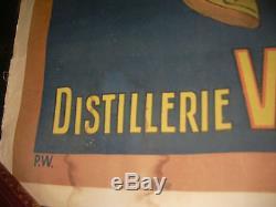 Affiche Originale Farigoulette Liqueur Digestive Et Hygienique